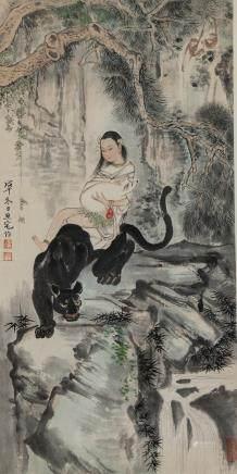 Liu Danzhai 1931-2011 Chinese Watercolour Scroll
