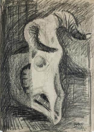 Mario Tozzi Italian Impressionist Graphite Paper