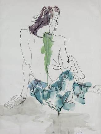 Augusto Murer Italian Modernist Mixed Media/Paper