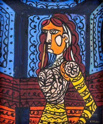 Amelia Pelaez Cuban Cubist OOC Portrait