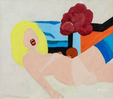 American Pop Art School Acrylic Signed Wesselmann