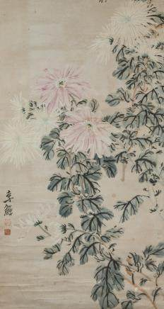 Li Shan 1686-1762 Chinese Watercolour Paper Scroll