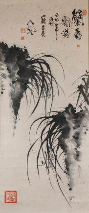 Ji Zhongliang b.1963 Chinese Ink on Paper Scroll