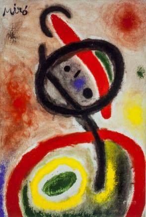 Joan Miro Spanish Surrealist Print on Paper