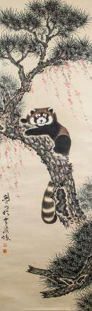 Gao Jianfu 1889-1933 Chinese  Watercolor on Paper
