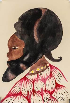 Chris Olfili British Modernist Watercolor/Paper