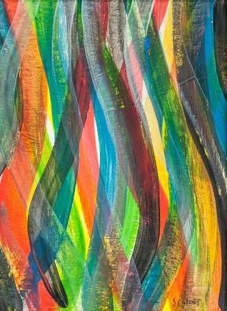 Sol LeWitt American Minimialist Oil on Canvas
