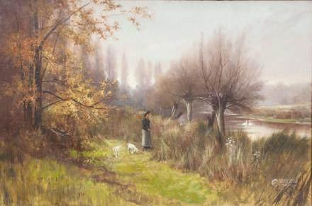 Frank Hider British 19th C. Oil on Canvas 1803