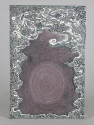 Chinese Fine Dragon Inkstone Wang Wen Zhi 18th C