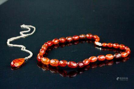 2 PC Chinese Amber Necklace