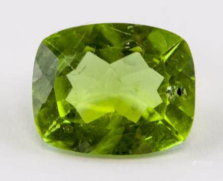 2.82 ct Peridot Loose Gem Emerald Cut