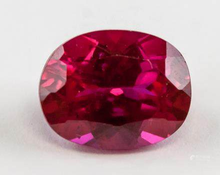 6.30 ct Natural Ruby Oval Cut Gemstone Certificate
