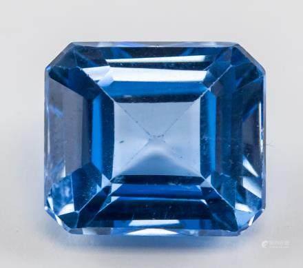 14.45 ct Natural Blue Sapphire Gemstone Certificat