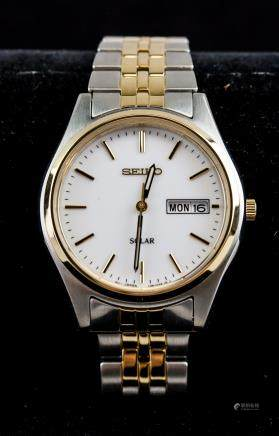 Seiko Solar Two-Toned Watch RV $239