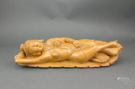 Chinese Wood Carved Bodhisattva