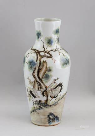 Chinese Famille Rose Porcelain Vase Li Xiaoliang