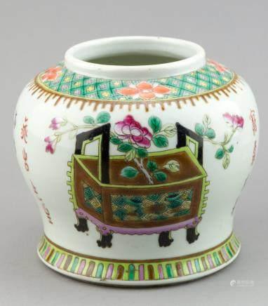 Chinese Famille Verte Porcelain Jar Tongzhi Mark