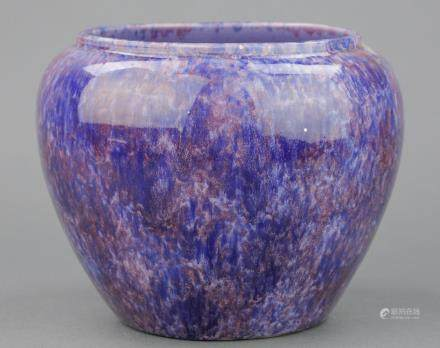 Chinese Flambe Porcelain Jar Purple Hue