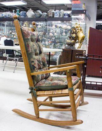 American P & P Wood Rocking Chair