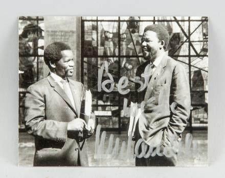 Signed Nelson Mandela Photograph Autograph
