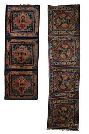 A SET OF TWO CARPETS