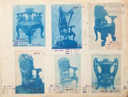 Photographe non identifié  Chine, Indochine, c. 1890-1900.  Catalogue de meuble