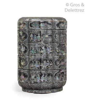 Chine, première moitié de la période Ming, XIV-XVe siècle Boite reprenant la f