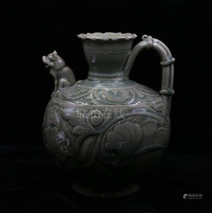 CHINESE PORCELAIN YAO WARE FLOWER KETTLE