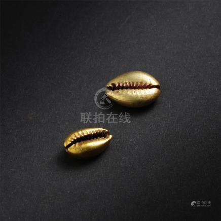 CHINESE PURE GOLD SHELL COIN SPRING AND AUTUMN PERIOD
