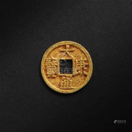 CHINESE PURE GOLD COIN LIAO DYNASTY