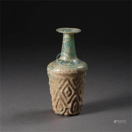 CHINESE GLASS VASE TANG DYNASTY