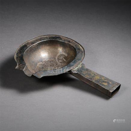 CHINESE PURE SILVER SPOON LIAO DYNASTY