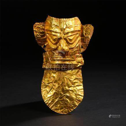 CHINESE PURE GOLD MASK HAN DYNASTY