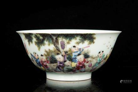 FAMILLE ROSE 'CHILDREN' BOWL