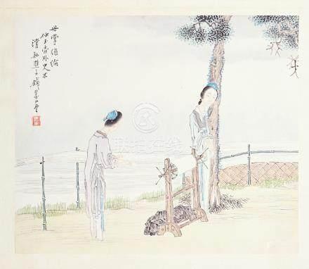 Twelve Chinese watercolours