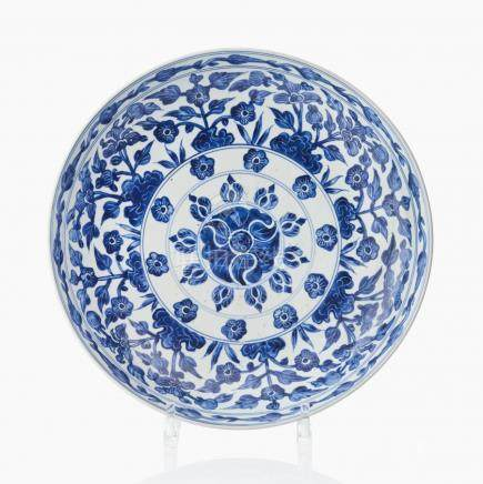 A Chinese blue and white dish