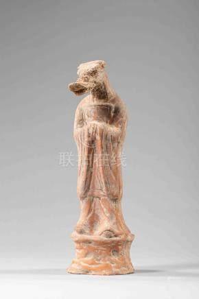 Signe du zodiaque chinois, figuration anthropo-zoomorphe vêtu d'une longue tuni