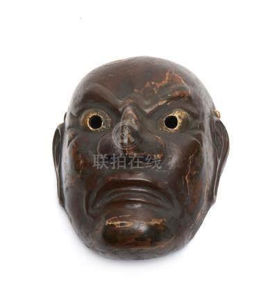 Grand masque en bois bugaku (ancien masque de danse de temple), d'après un masq
