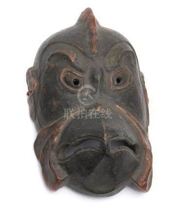Grand masque en bois gigaku (ancien masque de théâtre de temple) d'après une re