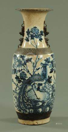 A Chinese crackle ware vase, late 19th century,