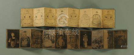 Two Chinese pictorial albums,