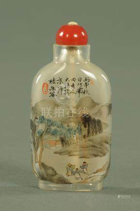 A Chinese interior painted snuff bottle, 20th century,