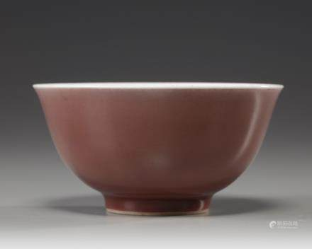 A copper-red glazed bowl