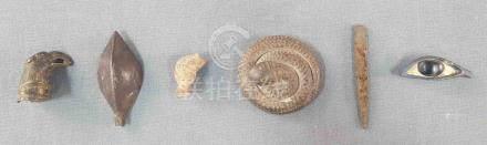 Wohl 6 Antiken. Grabbeigaben? Ägypten?Aus einer sehr alten umfangreichen Sammlung. Die Schlange