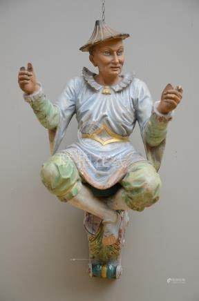 Polychromed wooden sculpture 'Chinese man' (*)