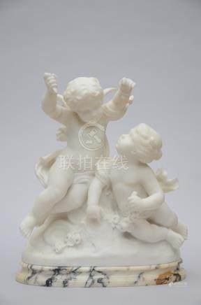 "Vax: statue in marble ""two putti"" (*)"