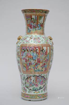 A vase in Chinese Canton porcelain 'audience'