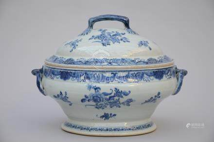 Tureen in Chinese blue and white porcelain, 18th century