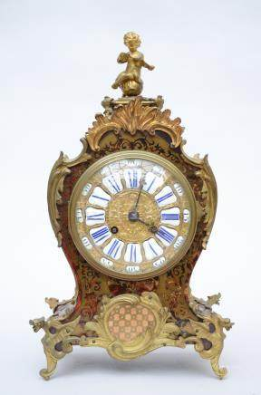 Louis XV style clock with Boulle inlaywork