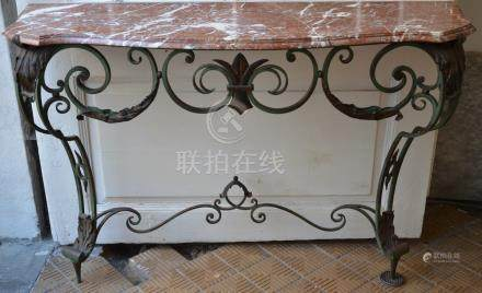 Decorative console in wrought iron